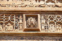 Gothic Catalan style portica( 1430) by  Antonio Gambara, Palermo Cathedral, Sicily