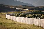 Snow drift fence along the side of U.S. Highway 50 near Ruth Nevada.