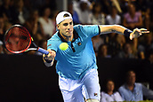 10th January 2018, ASB Tennis Centre, Auckland, New Zealand; ASB Classic, ATP Mens Tennis;  John Isner (USA) during the ASB Classic ATP Men's Tournament Day 3