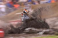 Action in the rain and mud at the Daytona Supercross, Daytona International Speedway, Daytona Beach FL March 7, 2008. (Photo by Brian Cleary/www.bcpix.com)