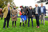 Connections of Vixen in the winners enclosure after winningg The Bathwick Tyres Handicap (Div 1) during Bathwick Tyres Reduced Admission Race Day at Salisbury Racecourse on 9th October 2017