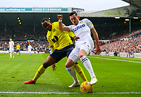 Leeds United's Jack Harrison shields the ball from Blackburn Rovers' Ryan Nyambe<br /> <br /> Photographer Alex Dodd/CameraSport<br /> <br /> The EFL Sky Bet Championship - Leeds United v Blackburn Rovers - Wednesday 26th December 2018 - Elland Road - Leeds<br /> <br /> World Copyright &copy; 2018 CameraSport. All rights reserved. 43 Linden Ave. Countesthorpe. Leicester. England. LE8 5PG - Tel: +44 (0) 116 277 4147 - admin@camerasport.com - www.camerasport.com