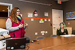 NAUGATUCK, CT. 20 December 2018-122018 - Nicole Wiley, a prevention coordinator talks about preventive measures and how to see the signs, as Naugatuck High Senior Holly Santos looks on during a suicide training class at Naugatuck Youth Services in Naugatuck on Thursday. Bill Shettle Republican-American
