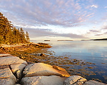 Deer Isle, Maine: Colorful sunset along the shoreline of Jericho Bay