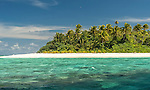 Atoll island in the Funafuti Marine Conservation Area, Tuvalu