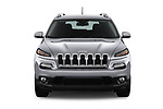 Car photography straight front view of a 2018 Jeep Cherokee Latitude 5 Door SUV