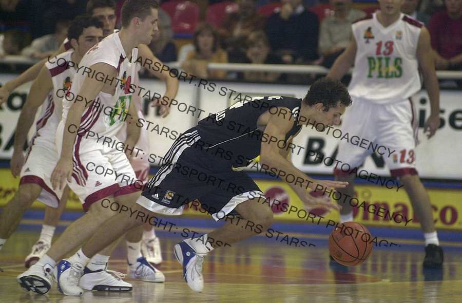 SPORT KOSARKA REFLEX REFLEKS PARTIZAN Vule Avdalovic JADRANSKA GOODYEAR ABA LIGA 19.10.2004. foto: Pedja Milosavljevic