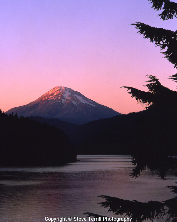 Mt St Helens from Yale Lake Washington in July 1979