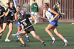 Santa Barbara, CA 02/18/12 - Elise Becker (Washington #5) and Skylar Brown (UCSB #5) in action during the UCSB-Washington matchup at the 2012 Santa Barbara Shootout.  UCSB defeated Washington