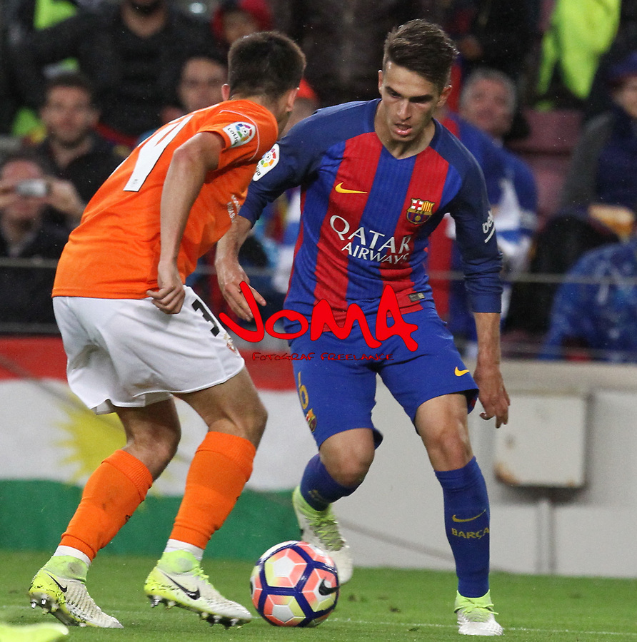 26.04.2017 Barcelona. La Liga , game 34. Picture show Denis Suarez in action during game between FC Barcelona against Osasuna at Camp Nou01.12.2016 Barcelona.