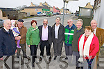 ROADWORKS: Welcoming funding for roadworks in Gneeveguilla village this week, l-r: Seamus McCarthy, Jack and Katie McCarthy, Mai Murphy, Cllr Danny Healy-Rae, Cllr John Joe Culloty, Dave Cronin, Oliver Fleming, Eileen Fleming, Dan Joe O'Keeffe.