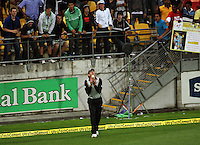 NZ's Jacob Oram catches Yuvrag Singh during 2nd Twenty20 cricket match match between New Zealand Black Caps and West Indies at Westpac Stadium, Wellington, New Zealand on Friday, 27 February 2009. Photo: Dave Lintott / lintottphoto.co.nz