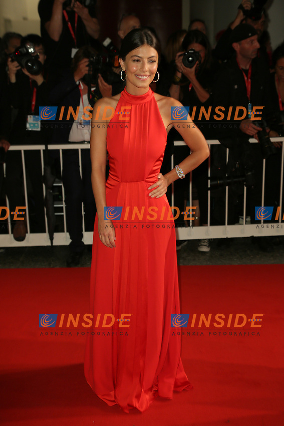 """VENICE, ITALY - SEPTEMBER 06: Alessandra Mastronardi walks the red carpet ahead of the """"Waiting For The Barbarians"""" screening during the 76th Venice Film Festival at Sala Grande on September 06, 2019 in Venice, Italy. (Photo by Mark Cape/Insidefoto)<br /> Venezia 06/09/2019"""
