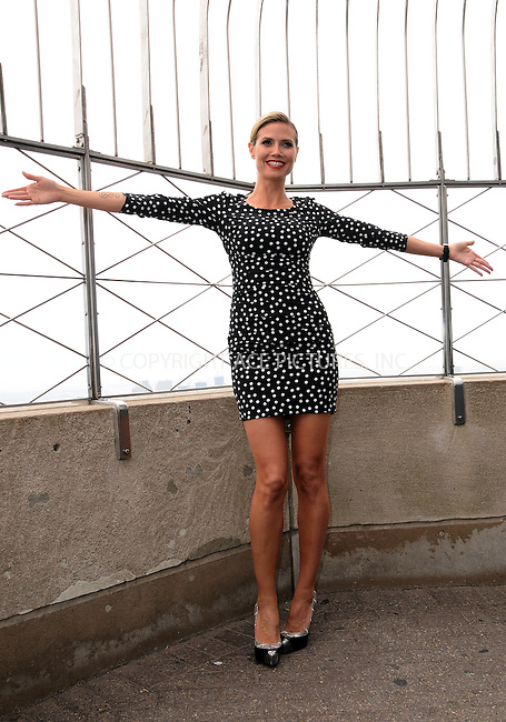 WWW.ACEPIXS.COM . . . . .  ....April 26 2012, New York City....TV personality Heidi Klum lights the Empire State Building for Bone Marrow Donors on April 26, 2012 in New York....Please byline: CURTIS MEANS - ACE PICTURES.... *** ***..Ace Pictures, Inc:  ..Philip Vaughan (212) 243-8787 or (646) 769 0430..e-mail: info@acepixs.com..web: http://www.acepixs.com