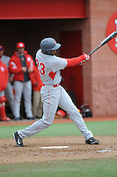 University of Houston Cougers outfielder Ashford Fulmer (23) during game game 1 of a double header against the Rutgers University Scarlet Knights at Bainton Field on April 5, 2014 in Piscataway, New Jersey. Rutgers defeated Houston 7-3.      <br />  (Tomasso DeRosa/ Four Seam Images)