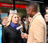 NEW YORK, NY - JANUARY 14: Miss America 2013 Mallory Hagan interviewed by Extra correspondent, AJ Calloway in New York City. January 14, 2013. Credit: RW/MediaPunch Inc. /NortePhoto