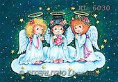 Interlitho, CHRISTMAS CHILDREN, WEIHNACHTEN KINDER, NAVIDAD NIÑOS, paintings+++++,3 angel,roses,green sky,KL6030,#xk# ,angels