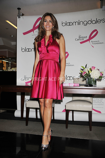 WWW.ACEPIXS.COM . . . . . ....October 2 2008, New York City....Actress Elizabeth Hurley at the 'Illumination of Bloomingdales' and 'Personal Appearance/Shopping Night with Elizabeth Hurley and Marisa Acocella Marchetto' at Bloomingdale's on October 2, 2008 in New York City.....Please byline: KRISTIN CALLAHAN - ACEPIXS.COM.. . . . . . ..Ace Pictures, Inc:  ..(646) 769 0430..e-mail: info@acepixs.com..web: http://www.acepixs.com