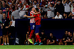 Hector Herrera of Atletico de Madrid celebrates goal during UEFA Champions League match between Atletico de Madrid and Juventus at Wanda Metropolitano Stadium in Madrid, Spain. September 18, 2019. (ALTERPHOTOS/A. Perez Meca)