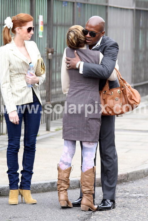 **ALL ROUND PICTURES FROM SOLARPIX.COM**.**WORLDWIDE SYNDICATION RIGHTS**.memorial service for the reality star Jade Goody, held the day before the first anniversary of her death from cervical cancer, in her home town of Bermondsey in London, UK. 21 March 2010..This pic: Jackiey Budden leaves her home and meets up with Jade's friend Kevin Adams..JOB REF: 10951 SKD       DATE: 21_03_2010.**MUST CREDIT SOLARPIX.COM OR DOUBLE FEE WILL BE CHARGED**.**MUST NOTIFY SOLARPIX OF ONLINE USAGE**.**CALL US ON: +34 952 811 768 or LOW RATE FROM UK 0844 617 7637**