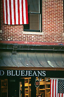 Patriotic spirit after September 11, 2001. Georgtown, Washington, DC. Pentax Spotmatic.