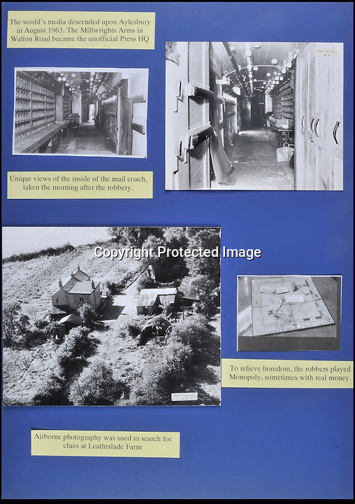 BNPS.co.uk (01202 558833)<br /> Pic: Ben Cavanna/DWA/BNPS<br /> <br /> Crime scene, hideout and monopoly board played by the robbers.<br /> <br /> A unique step by step record of the Great Train Robbery compiled by the first detective on the scene has come to light, 50 years after the 'Crime of the century'.<br /> <br /> DC John Bailey's meticulous scrapbook's give a fascinating blow by blow picture account of the notorious heist from the scene to the capture and trial of the nine robbers.<br /> <br /> Dominic Winter auctions in Cirencester are selling the historic books with a &pound;3000 estimate.