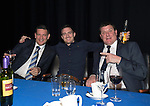 St Johnstone Hall of Fame Dinner, Perth Concert Hall...05.10.13<br /> St Johnstone Chairman Steve Brown with David Robertson and Tommy Wright<br /> Picture by Graeme Hart.<br /> Copyright Perthshire Picture Agency<br /> Tel: 01738 623350  Mobile: 07990 594431