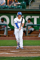 Nick Yarnall (21) of the Ogden Raptors at bat against the Billings Mustangs in Pioneer League action at Lindquist Field on August 12, 2016 in Ogden, Utah. Billings defeated Ogden 7-6. (Stephen Smith/Four Seam Images)