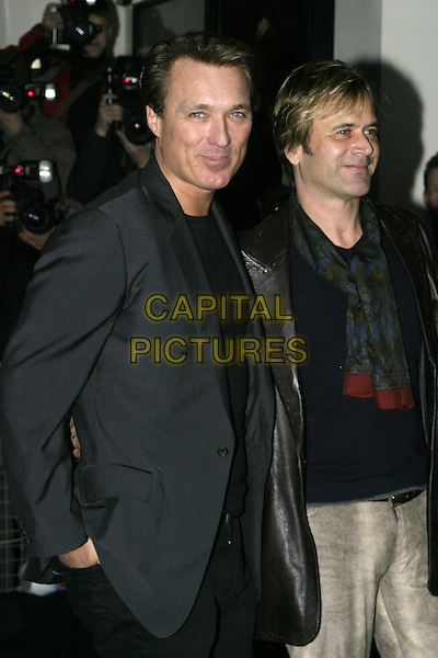 MARTIN KEMP & GUEST.The Shockwaves NME Awards 2005,.Hammersmith Palais, Shepherds Bush Road,.London, February 17th 2005..half length.Ref: AH.www.capitalpictures.com.sales@capitalpictures.com.©Capital Pictures.