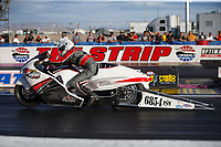 Oct 29, 2016; Las Vegas, NV, USA; NHRA pro stock motorcycle rider Kristen Ashby during qualifying for the Toyota Nationals at The Strip at Las Vegas Motor Speedway. Mandatory Credit: Mark J. Rebilas-USA TODAY Sports