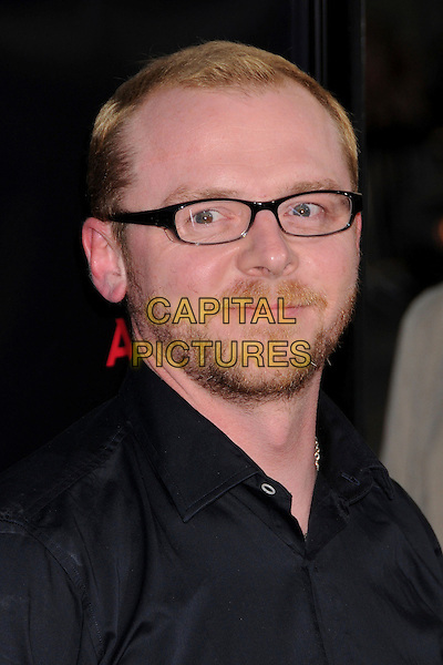 "SIMON PEGG.""Iron Man"" Los Angeles Premiere at Grauman's Chinese Theatre, Hollywood, California, USA,.30 April 2008..portrait headshot glasses beard facial hair .CAP/ADM/BP.©Byron Purvis/Admedia/Capital PIctures"