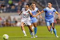 Chicago, IL - Saturday July 30, 2016: Lo'eau LaBonta, Stephanie McCaffrey, Vanessa DiBernardo during a regular season National Women's Soccer League (NWSL) match between the Chicago Red Stars and FC Kansas City at Toyota Park.