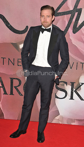 Ricky Wilson at the Fashion Awards 2016, Royal Albert Hall, Kensington Gore, London, England, UK, on Monday 05 December 2016. <br /> CAP/CAN<br /> ©CAN/Capital Pictures /MediaPunch ***NORTH AND SOUTH AMERICAS ONLY***