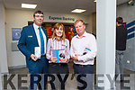 Bank of Ireland Listowel <br /> L-r Jim Whyte Customer Welcome advisor, Joanne Fitzgerald Customer Welcome advisor, Gerry Enright Manager