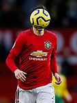 The ball covers the face of Nemanja Matic of Manchester United during the Premier League match at Old Trafford, Manchester. Picture date: 11th January 2020. Picture credit should read: James Wilson/Sportimage