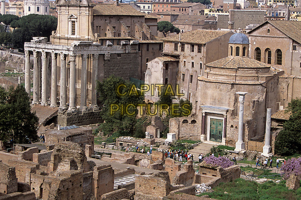 Temple of Antoninus and Faustina and Temple of Romulus, The Forum, Rome, Italy