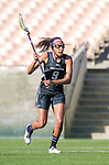 Los Angeles, CA 02/09/13 - Taylor Thornton  (Northwestern #9) in action during the Northwestern vs USC NCAA Women Lacrosse game at the Los Angeles Colliseum.