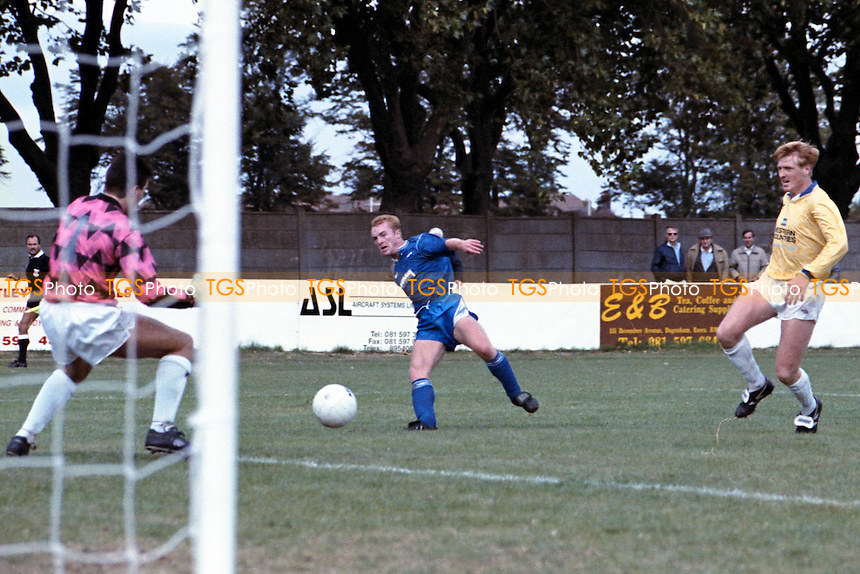 Danny Benstock scores a goal for Barking against Witney Town in an FA Trophy match at Mayesbrook Park - 22/09/90 - MANDATORY CREDIT: Gavin Ellis/TGSPHOTO - Self billing applies where appropriate - Tel: 0845 094 6026