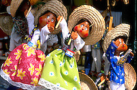 Colorful puppets in Puerto Vallarta , Mexico