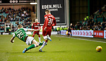20.12.2019 Hibs v Rangers: Ryan Porteous red card tackle on Borna Barisic