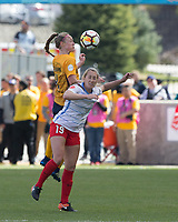 Sandy, UT - Saturday April 14, 2018: Becky Sauerbrunn, Summer Green during a regular season National Women's Soccer League (NWSL) match between the Utah Royals FC and the Chicago Red Stars at Rio Tinto Stadium.