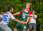 29 May 2015: South Burlington High School plays St. Johnsbury in the first round of the VYUL State Ultimate Disk Championships at Bombardier Park in Milton, Vermont. Mandatory Credit: Ed Wolfstein Photo *** RAW (NEF) Image File Available ***