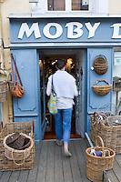 Europe/France/Bretagne/56/Morbihan/Belle-Ile/ Le Palais:  Détail d'un  boutique de décoration marine