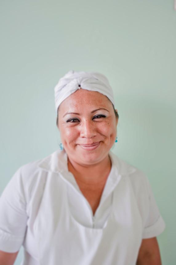 Ana a staff member at Hotel Boca Chica staff. Acapulco, Guerrero, Mexico