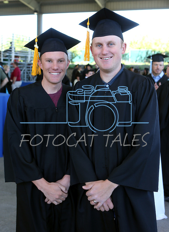 Brothers Alex and Cory Javes pose before the Western Nevada College Commencement at the Pony Express Pavilion, in Carson City, Nev., on Monday, May 20, 2013. .Photo by Cathleen Allison/Nevada Photo Source