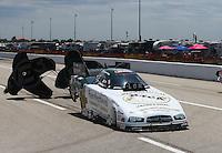 Apr 26, 2015; Baytown, TX, USA; NHRA pro stock driver John Hale during the Spring Nationals at Royal Purple Raceway. Mandatory Credit: Mark J. Rebilas-
