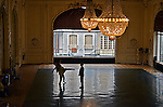 Vichy, France. Marshal Petain's personal ballroom in the Hotel Majestic, now used as a dance studio.