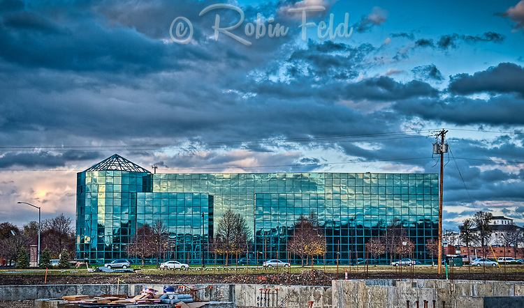 Reflections from a cloudy day on the Wright Health Building in Dayton Ohio (using HDR)