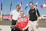 November 12 2011 - Guadalajara, Mexico:  CEO Henry Storgaard and President David Legg joins Lieutenant Governor Honorable David Onley as they tour the Athletes Village at the 2011 Parapan American Games.  Photos: Matthew Murnaghan/Canadian Paralympic Committee