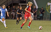 Portland, OR - Saturday August 19, 2017: Allie Long during a regular season National Women's Soccer League (NWSL) match between the Portland Thorns FC and the Houston Dash at Providence Park.